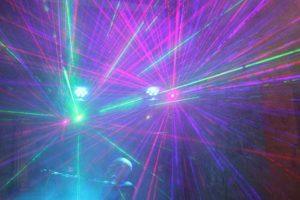 hier sehen Sie unsere Bühne im Laser Effekt